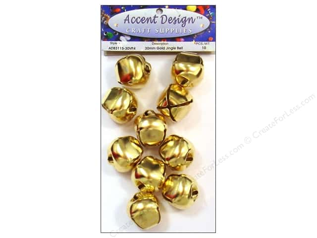 PA Essentials Jingle Bells 1 3/16 in. 10 pc. Gold