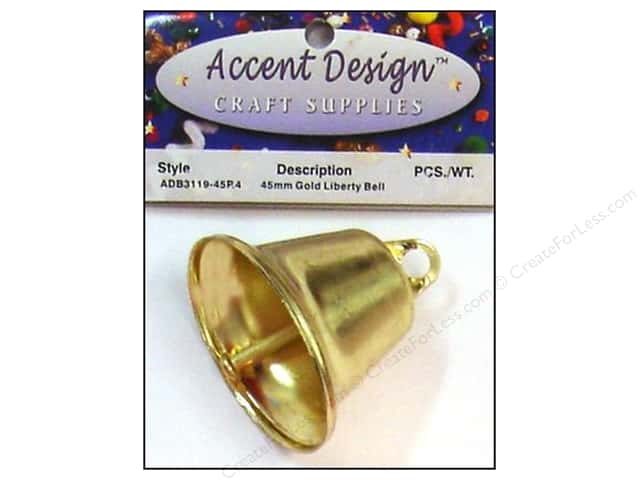 Accent Design Liberty Bell 1 3/4 in. 1 pc. Gold