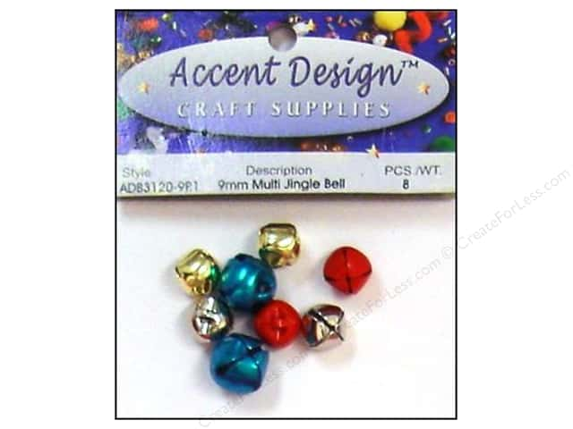 Jingle Bells by Accent Design 3/8 in. 8 pc. Multi