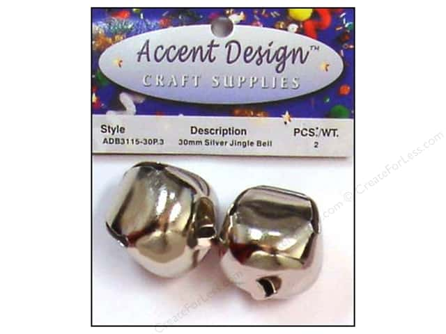 Jingle Bells by Accent Design 1 3/16 in. 2 pc. Silver