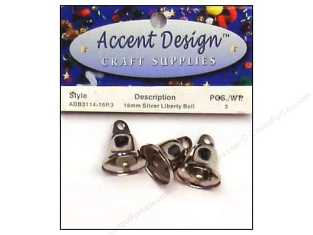 Accent Design Liberty Bell 5/8 in. 3 pc. Silver