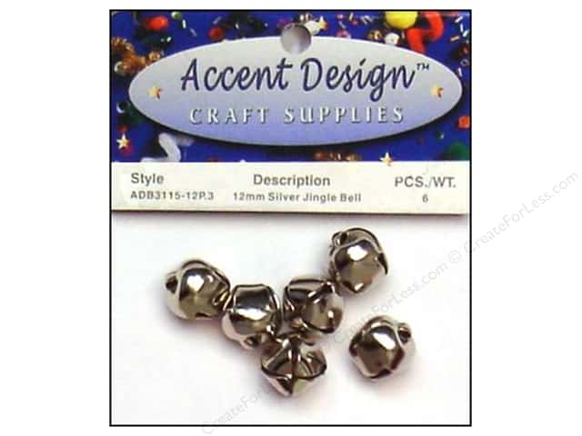 PA Essentials Jingle Bells 1/2 in. 6 pc. Silver