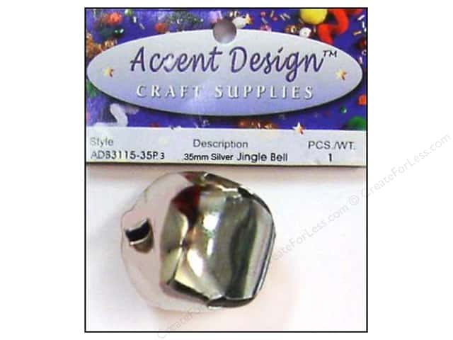 PA Essentials Jingle Bells 1 3/8 in. 1 pc. Silver
