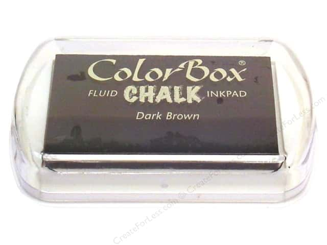 ColorBox Fluid Chalk Ink Pad Full Size Dark Brown