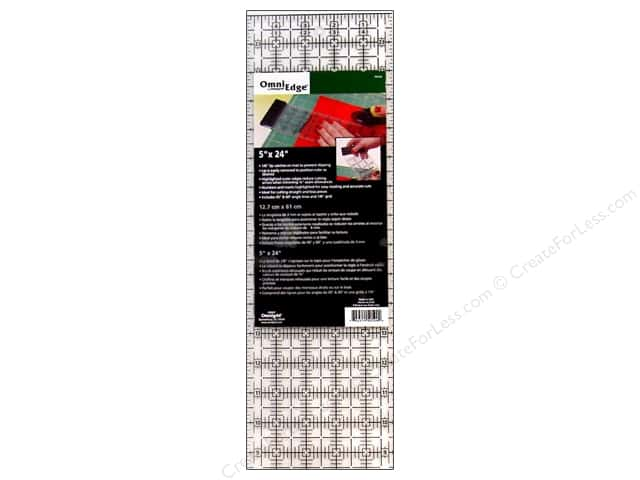 Omnigrid OmniEdge Non-slip Ruler 5 x 24 in.