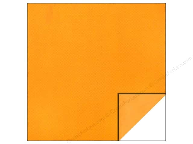 Bo Bunny 12 x 12 in. Paper Double Dot Orange Citrus (25 sheets)