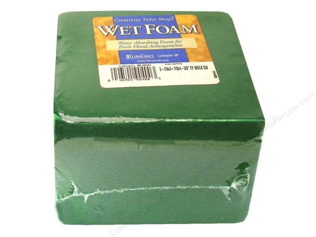 FloraCraft Wet Foam 2 7/8 x 3 7/8 x 4 3/8 in. 1 pc.