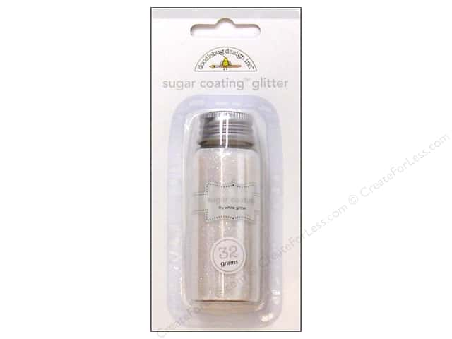 Doodlebug Glitter Sugar Coating 32gm Lily White