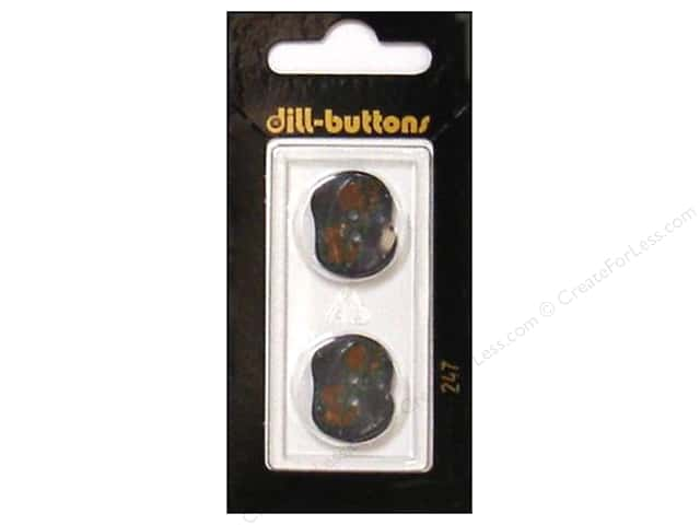 Dill 2 Hole Buttons 13/16 in. Grey/Burgundy #247 2pc.