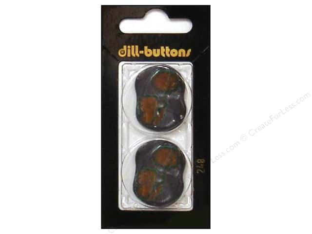 Dill 2 Hole Buttons 1 1/8 in. Grey/ Burgundy #248 2pc.