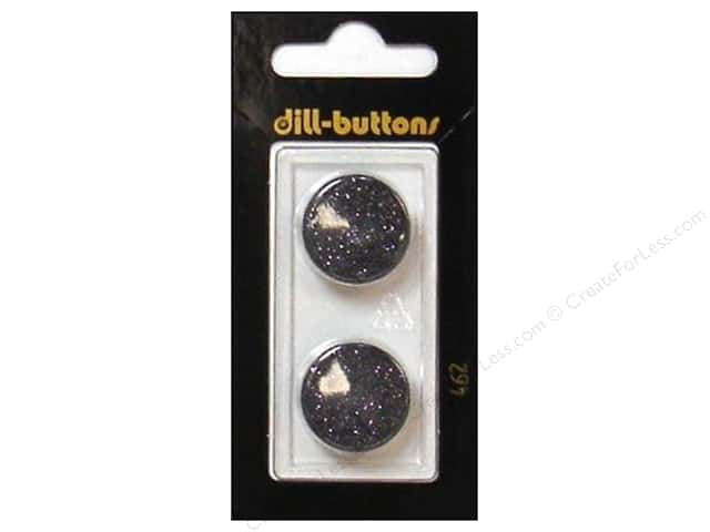 Dill Shank Buttons 13/16 in. Black #462 2pc.
