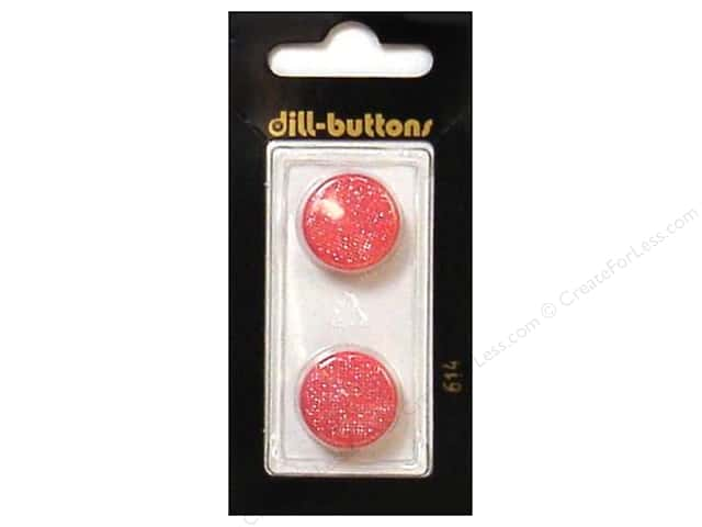 Dill Shank Buttons 11/16 in. Glitter Pink #614 2pc.