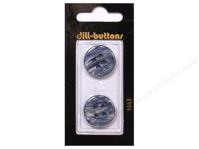 Dill 4 Hole Buttons 13/16 in. Blue #1443 2pc.