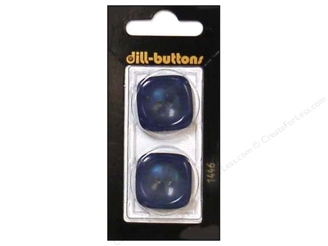 Dill 2 Hole Buttons 1 in. Blue #1446 2pc.