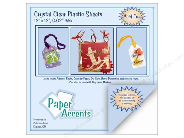 Plastic Sheet 12 x 12 in. by Paper Accents Clear .02 in. (25 sheets)
