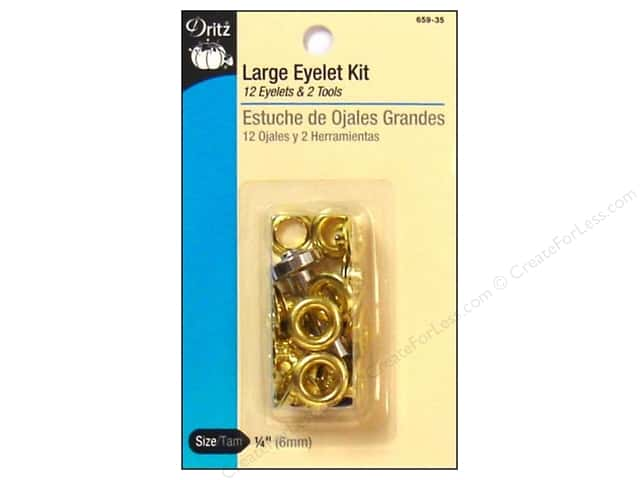 Large Eyelet Kit by Dritz 1/4 in. Gilt