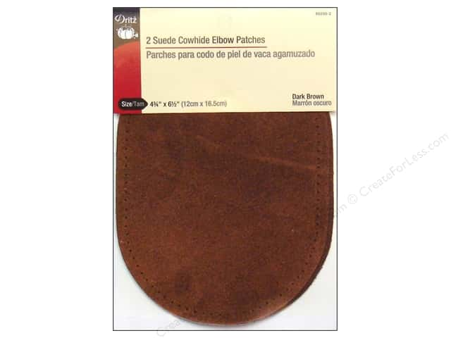 Suede Elbow Patches by Dritz 2 pc. Dark Brown