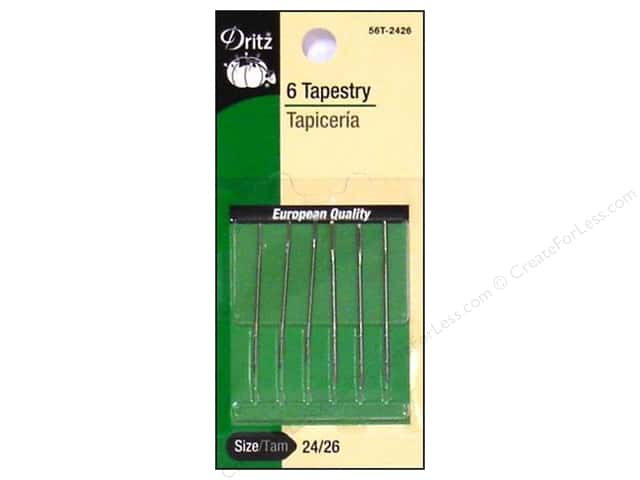 Tapestry Needles by Dritz Size 24/26 6pc