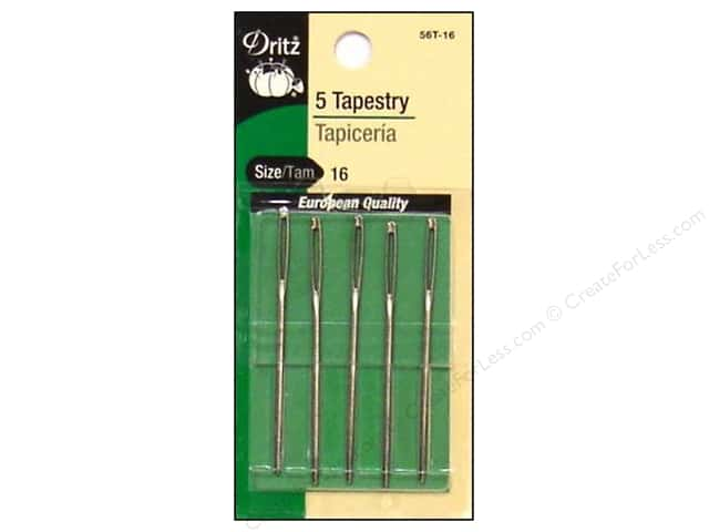 Tapestry Needles by Dritz Size 16 5pc