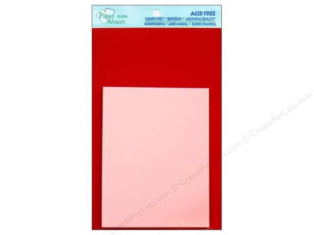 4 1/4 x 5 1/2 in. Blank Card & Envelopes by Paper Accents 8 pc. Dark Red/Light Pink