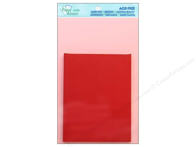 4 1/4 x 5 1/2 in. Blank Card & Envelopes by Paper Accents 8 pc. Light Pink/Dark Red