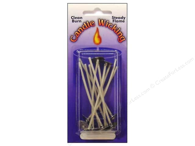 Pepperell Candle Wick Tab Prewaxed Wire Small 3 in. 12 pc