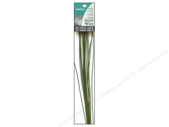 Panacea Cloth Stem Wire 18 in. 24-Gauge 20 pc. Green