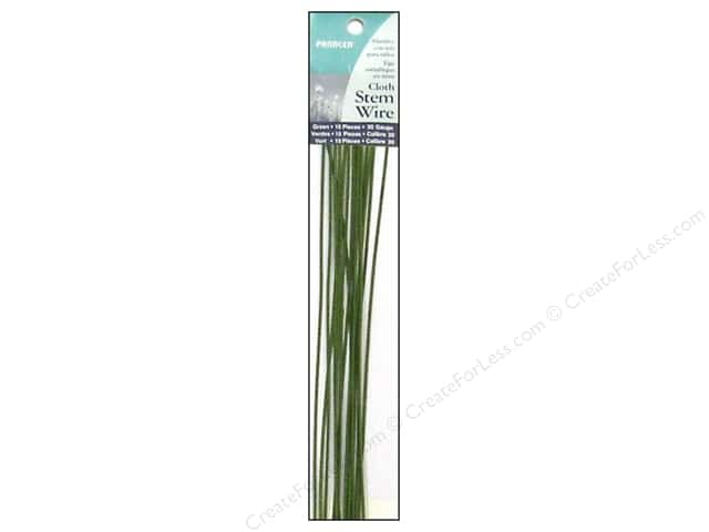 Panacea Stem Wire 18 in. 20-Gauge 15 pc. Green