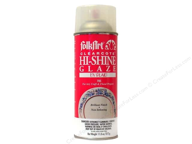 Plaid FolkArt Clearcote Hi-Shine Glaze 11 oz. Deep Gloss