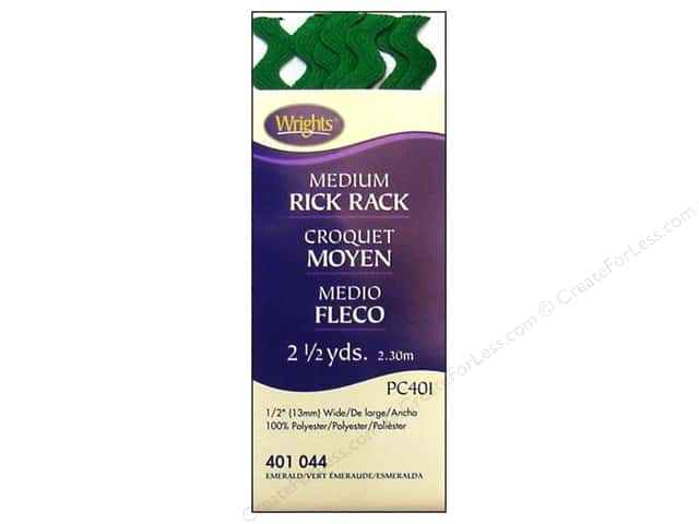 Wrights Rick Rack Medium 2 1/2 yd. Emerald