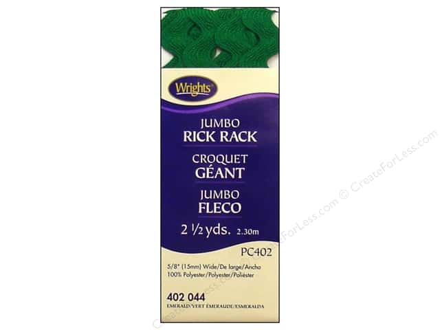 Wrights Jumbo Rick Rack 2 1/2 yd. Emerald