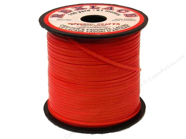 Pepperell Rexlace Craft Lace 100 yd. Red