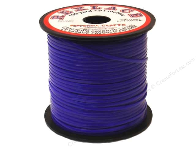Pepperell Rexlace Craft Lace 100 yd. Royal Blue
