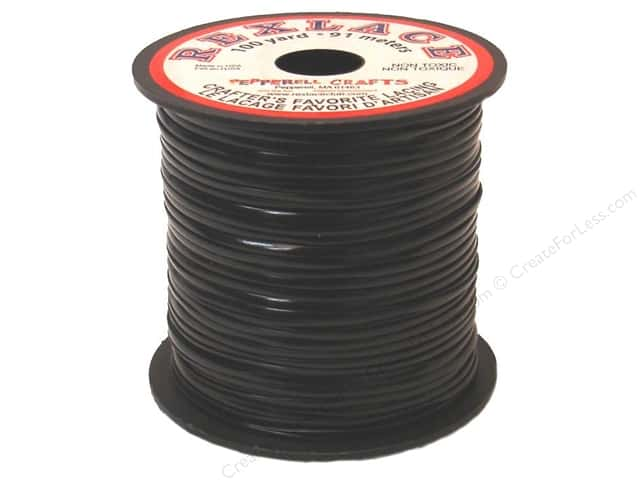 Pepperell Rexlace Craft Lace 100 yd. Black