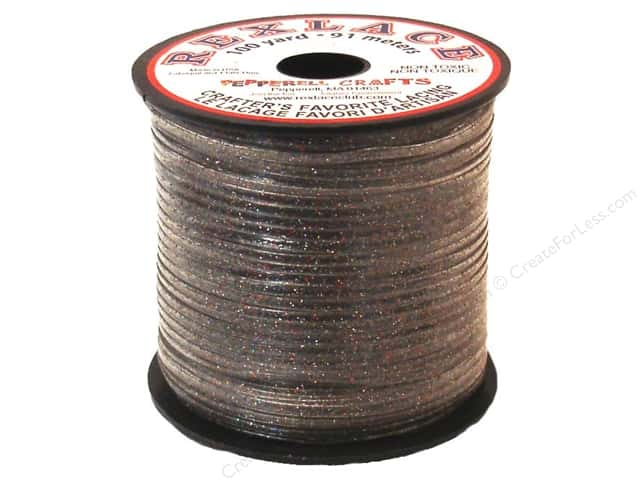 Pepperell Rexlace Craft Lace 100yd Sparkle Multi
