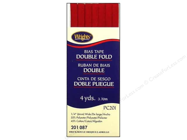 Wrights Double Fold Bias Tape 4 yd. Brick