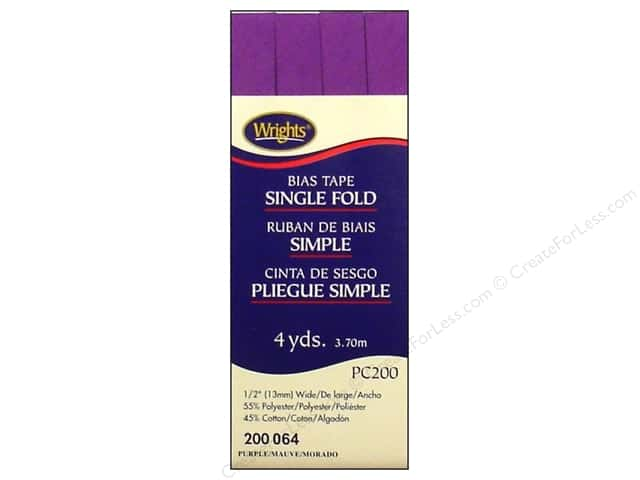 Wrights Single Fold Bias Tape 4 yd. Purple