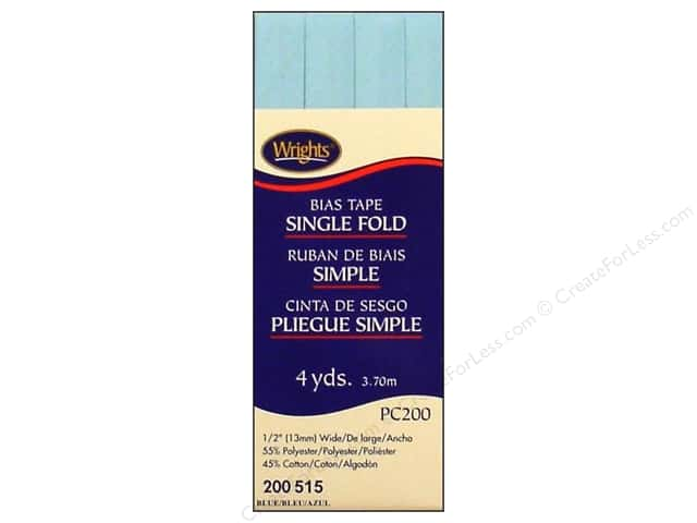 Wrights Single Fold Bias Tape 4 yd. Blue