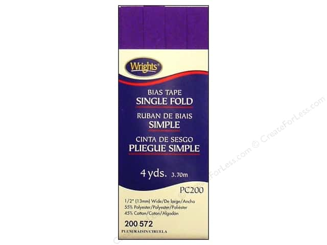 Wrights Single Fold Bias Tape - Plum 4 yd.