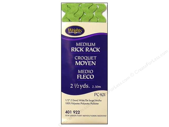 Wrights Rick Rack Medium 2 1/2 yd. Leaf Green