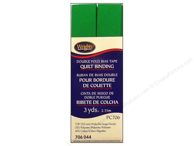 Wrights Double Fold Quilt Binding - Emerald 3 yd.