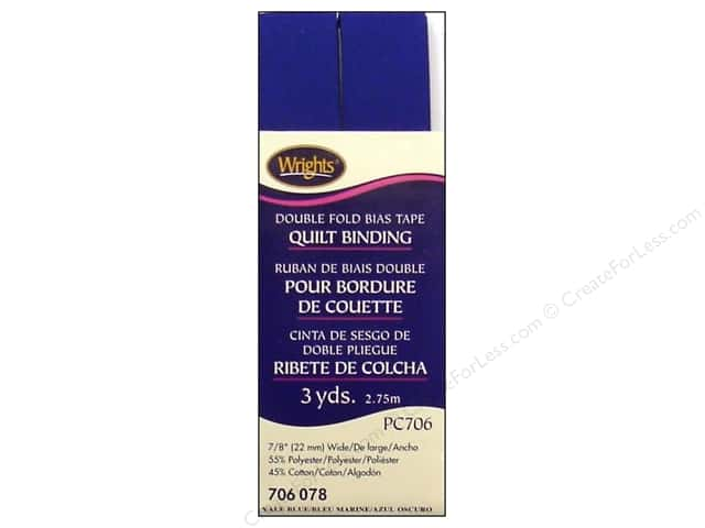 Wrights Double Fold Quilt Binding 3 yd. Yale