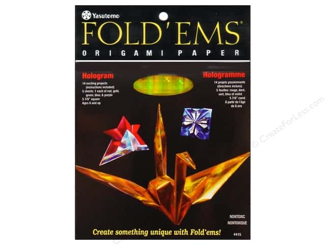 Yasutomo Fold Ems Origami Paper 5 7/8 in. 5 pc. Hologram