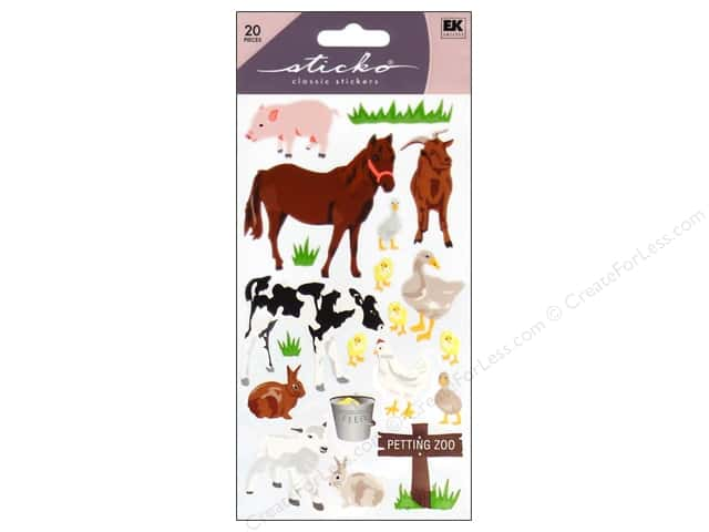 EK Sticko Stickers Petting Zoo