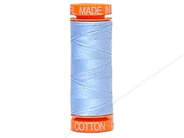 Aurifil Mako Cotton Quilting Thread 50 wt. #2715 Baby Blue 220 yd.