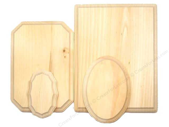 Demis Wood Plaques Bulk Assortment