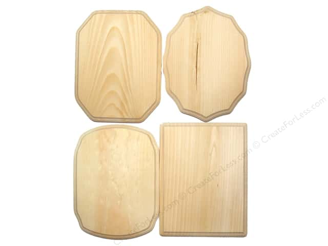 Demis Wood Plaques 9 x 12 in. Assortment (36 pieces)
