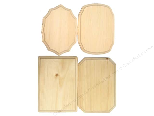 Demis Wood Plaques 7 x 9 in. Assortment (48 pieces)