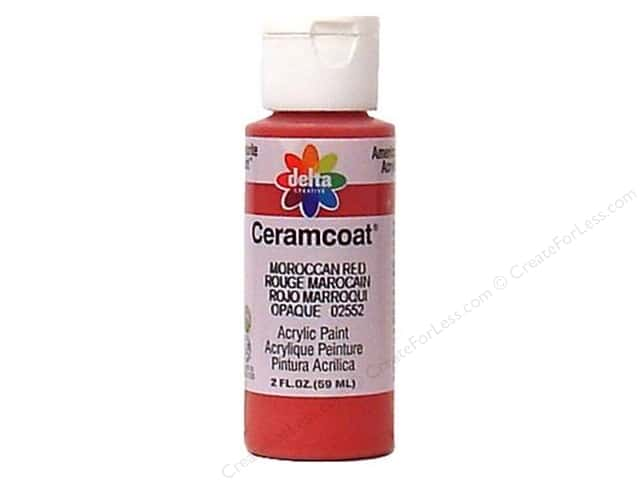 Ceramcoat Acrylic Paint by Delta 2 oz. #2552 Moroccan Red