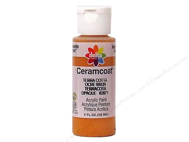 Ceramcoat Acrylic Paint by Delta 2 oz. #2071 Terra Cotta